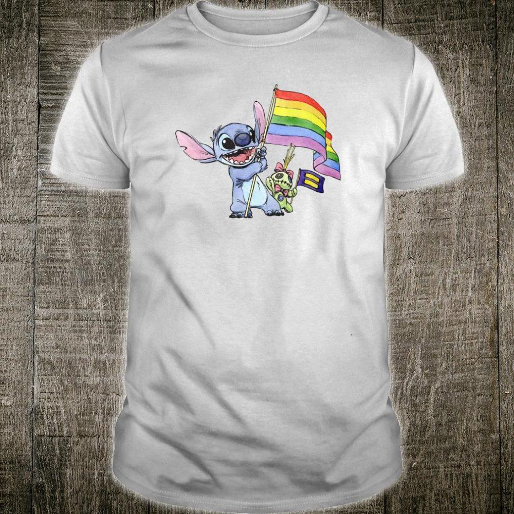 Stick and rainbow flag shirt