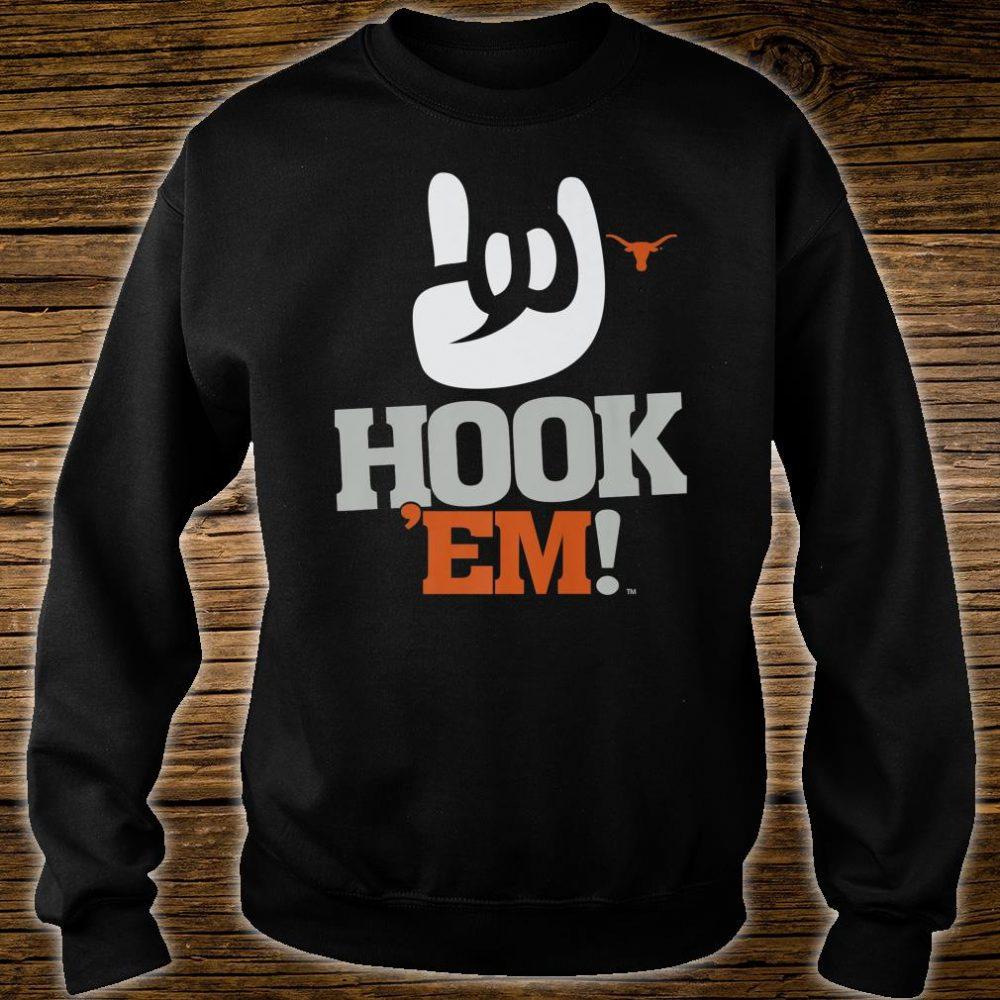 Texas Longhorns Hook 'em #1 White Apparel Shirt sweater