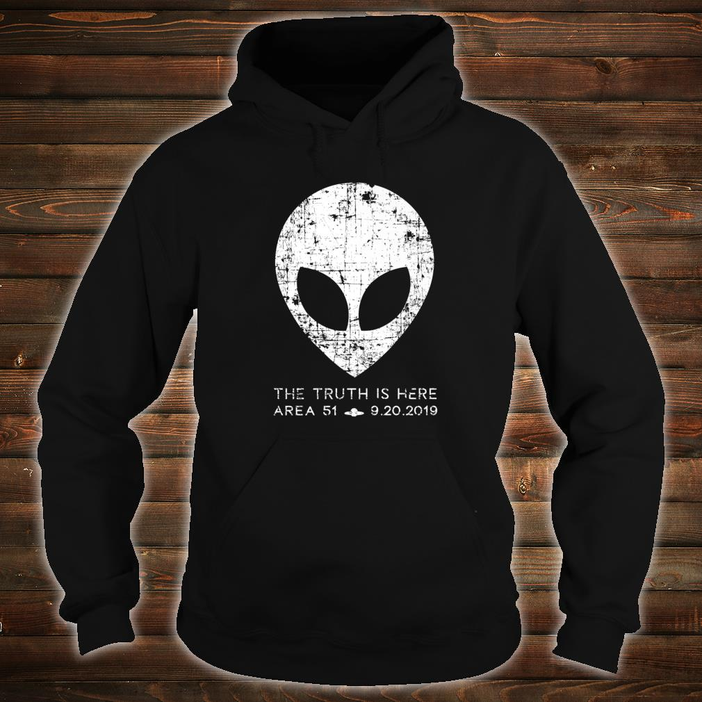 The Truth Is Here Area 51 Alien Head Shirt hoodie