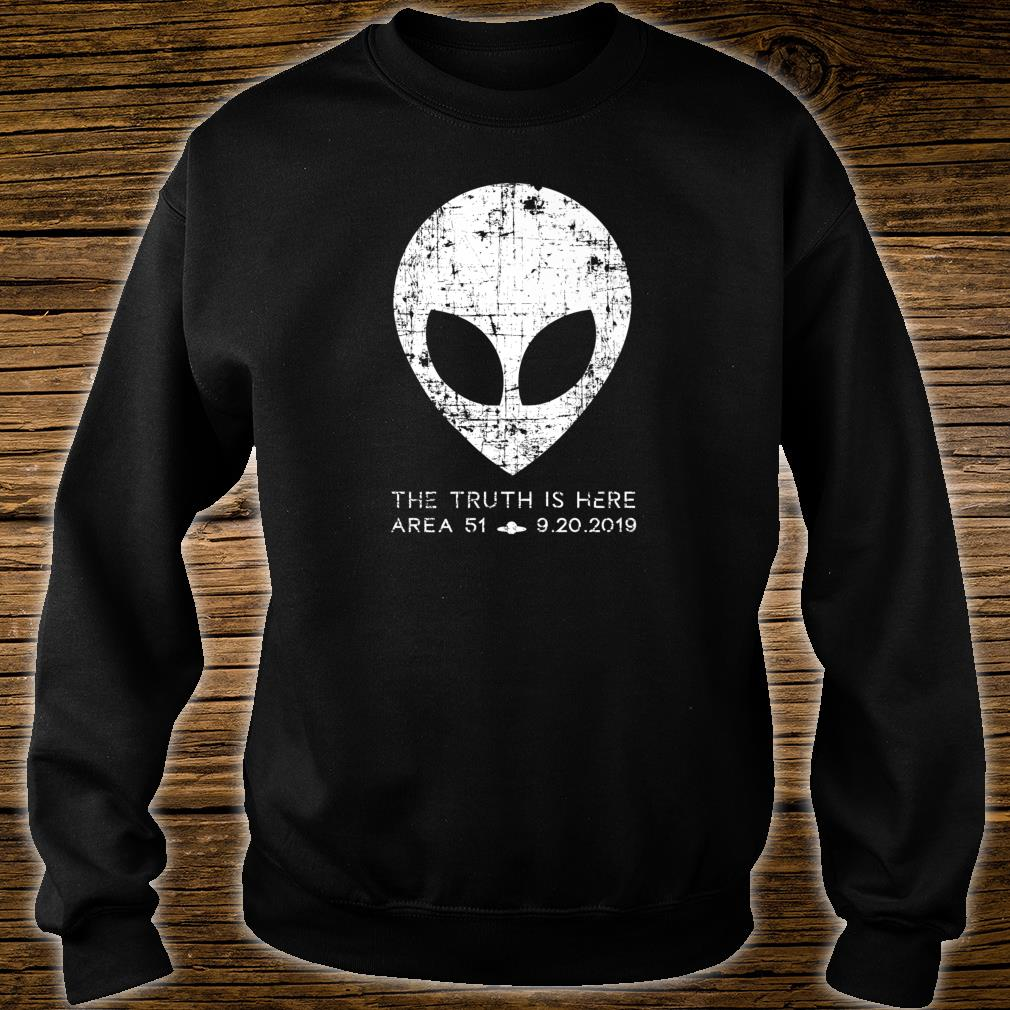 The Truth Is Here Area 51 Alien Head Shirt sweater
