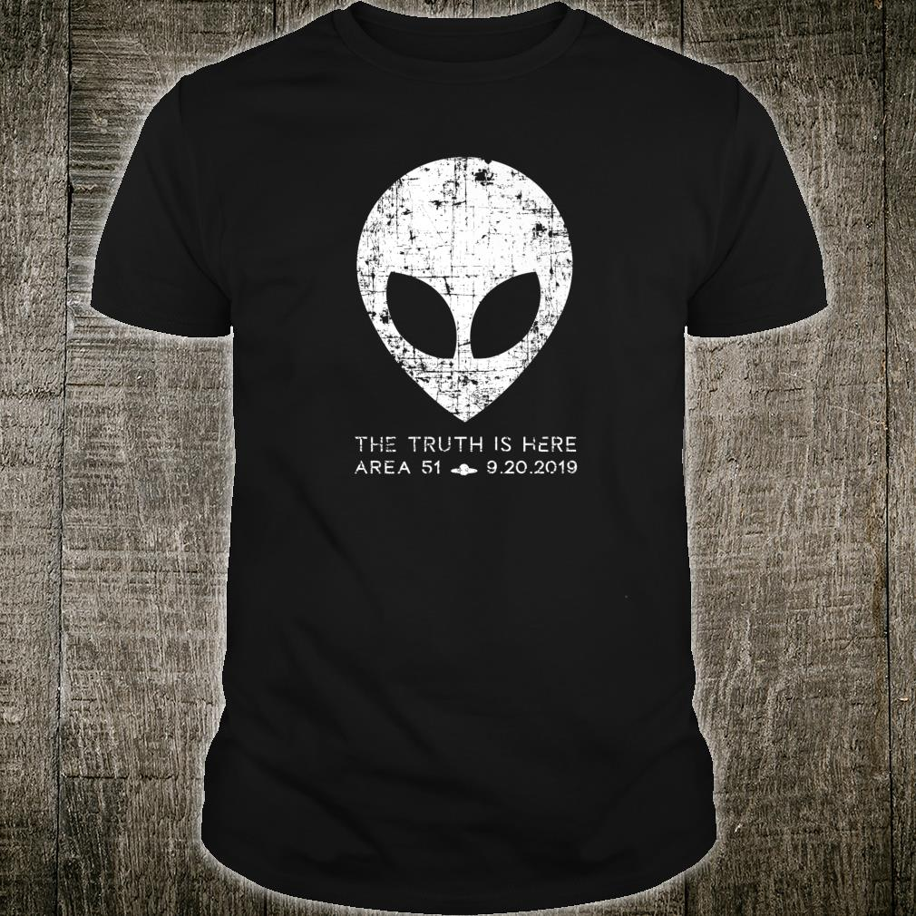 The Truth Is Here Area 51 Alien Head Shirt