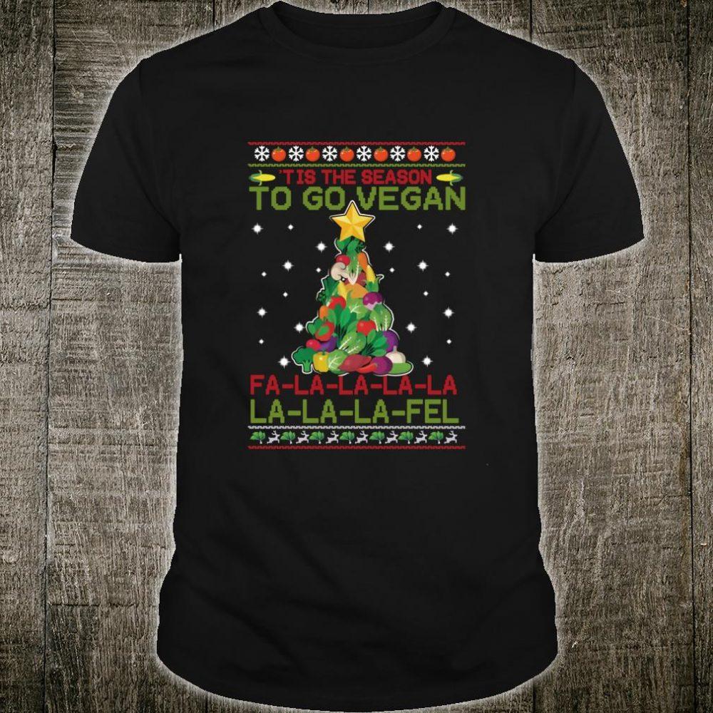 Tis The Season To Go Vegan FaLaFel Ugly Christmas Shirt