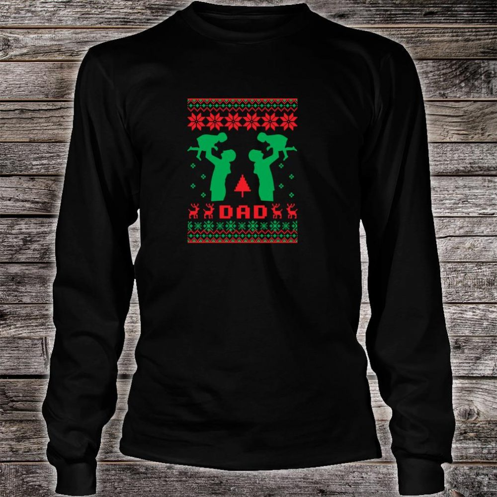 Ugly Best Dad Father Christmas Daughter New Year 2019 Shirt long sleeved