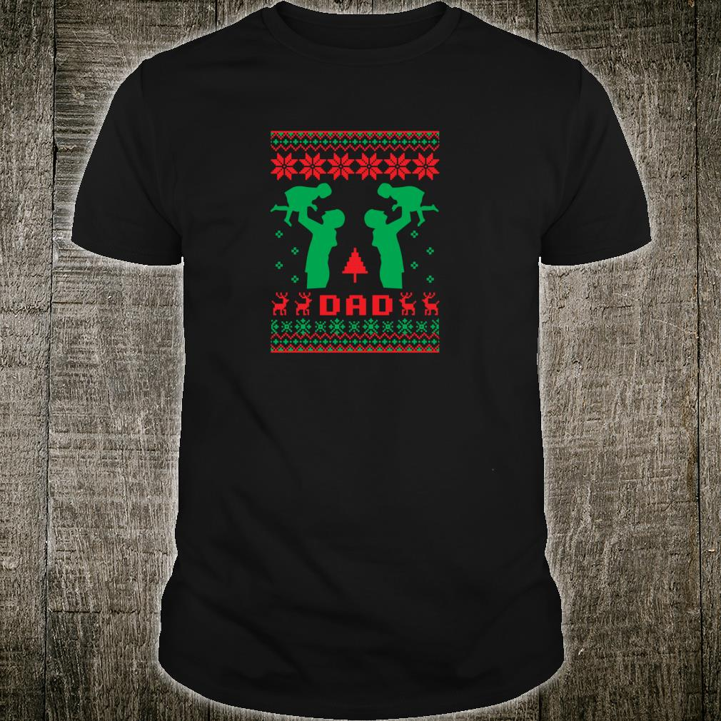Ugly Best Dad Father Christmas Daughter New Year 2019 Shirt