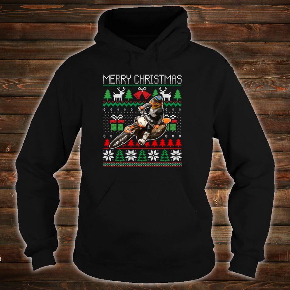 Ugly Christmas Dirt Bike Santa Xmas Motocross Biker Shirt hoodie
