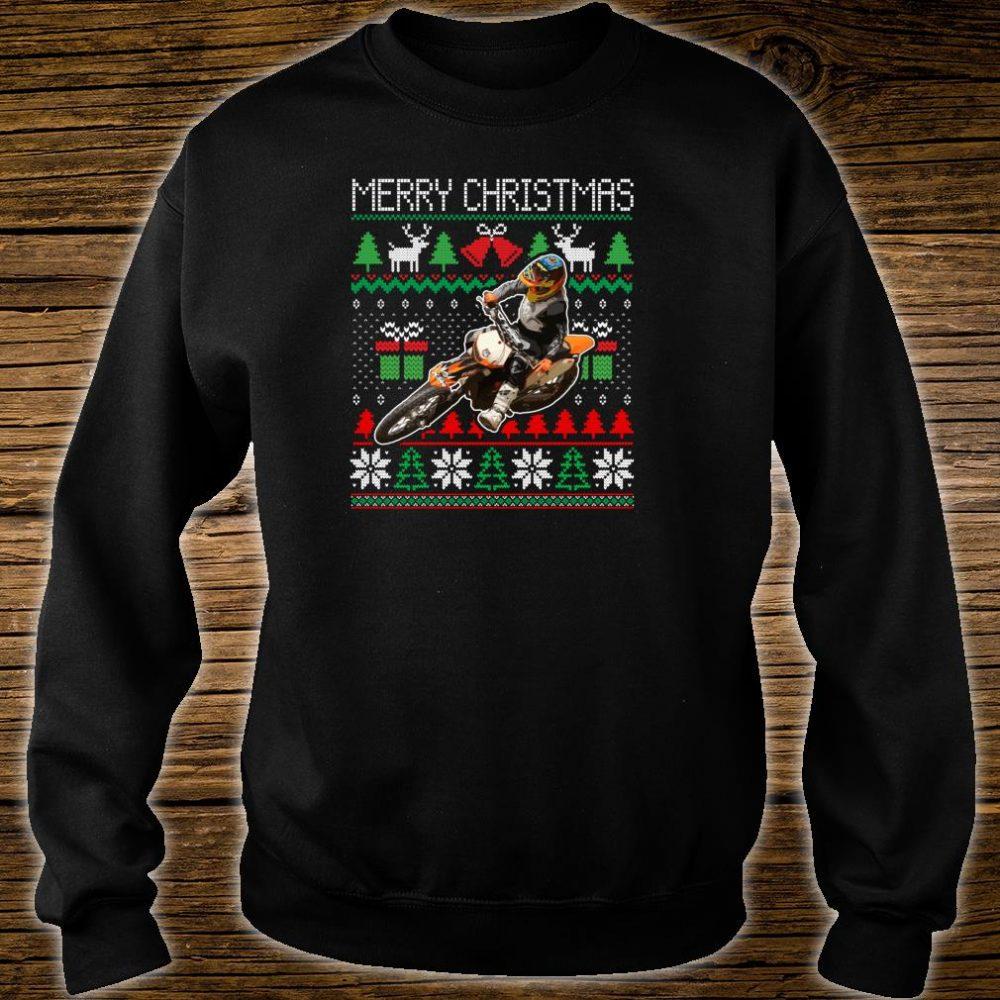 Ugly Christmas Dirt Bike Santa Xmas Motocross Biker Shirt sweater
