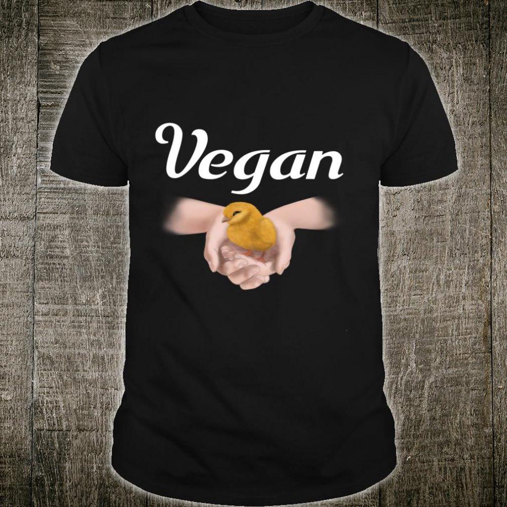 Vegetarier Vegan hands Chick Kuecken Shirt
