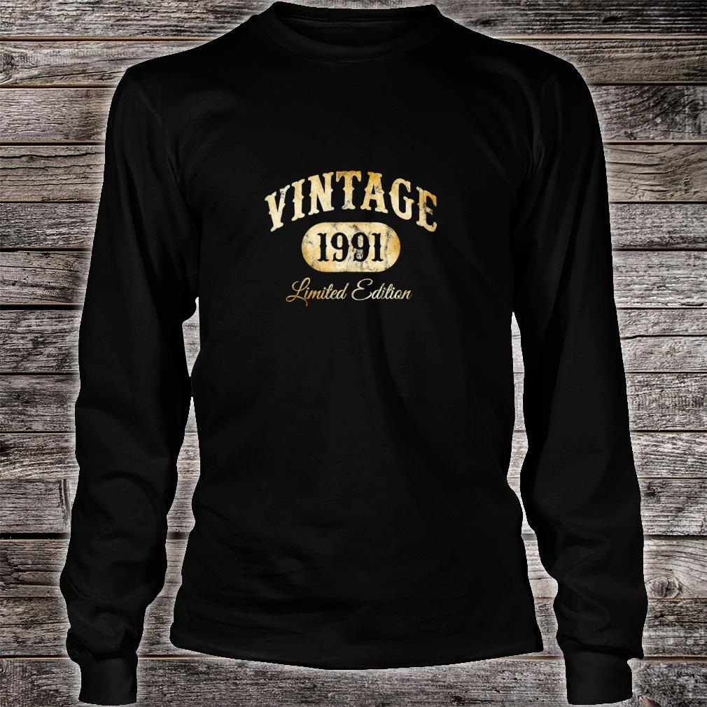 Vintage 1991 Limited Edition 29th Birthday q8 Shirt long sleeved