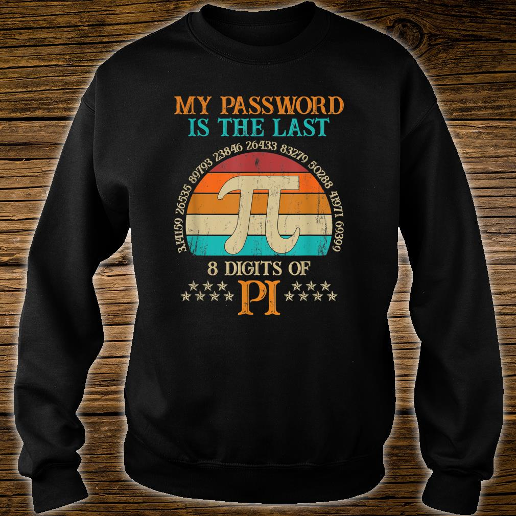 Vintage Pi Day My Password Is The Last 8 Digits Of Pi Shirt sweater