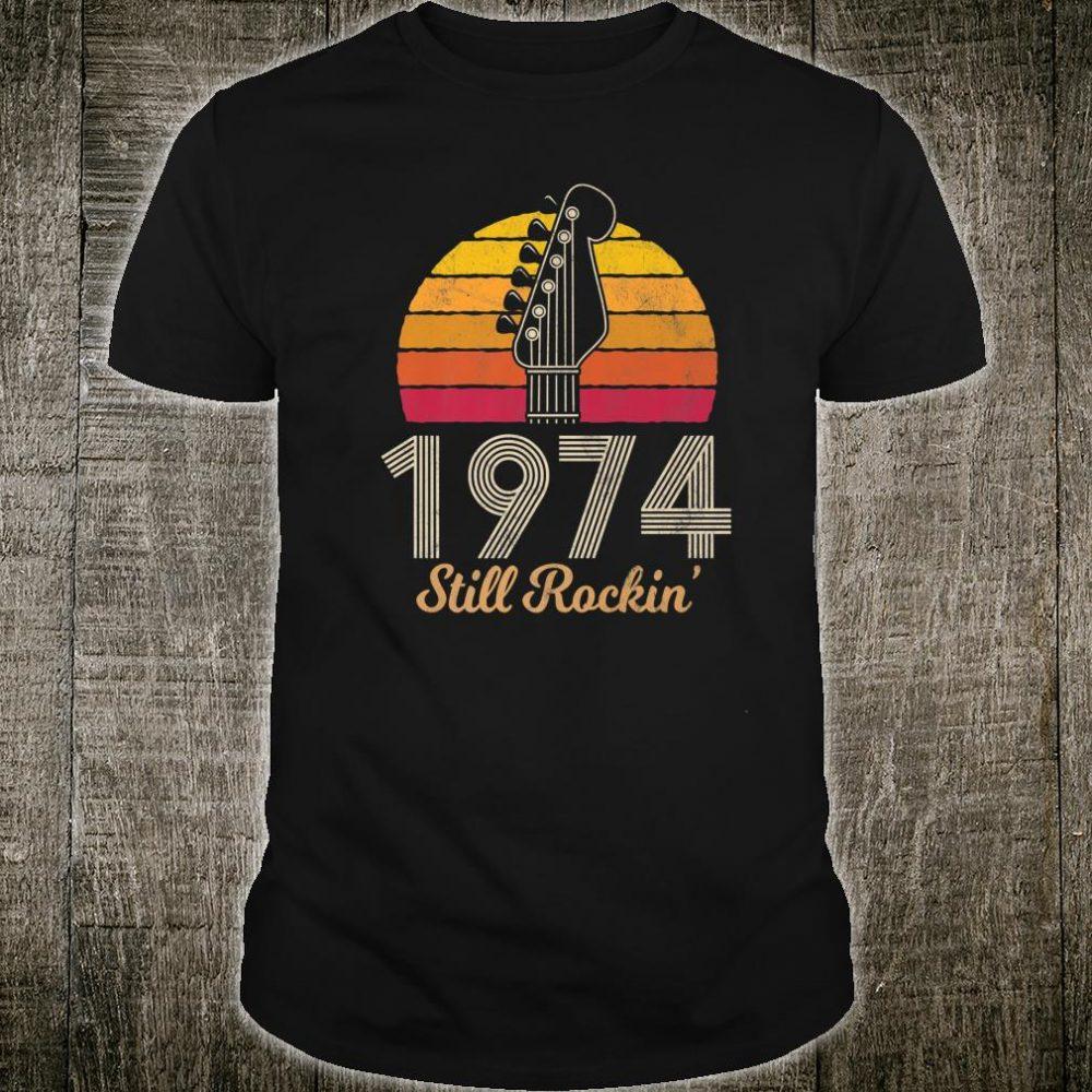 Vintage Style 45th Birthday Rock n Roll Guitar Retro Shirt