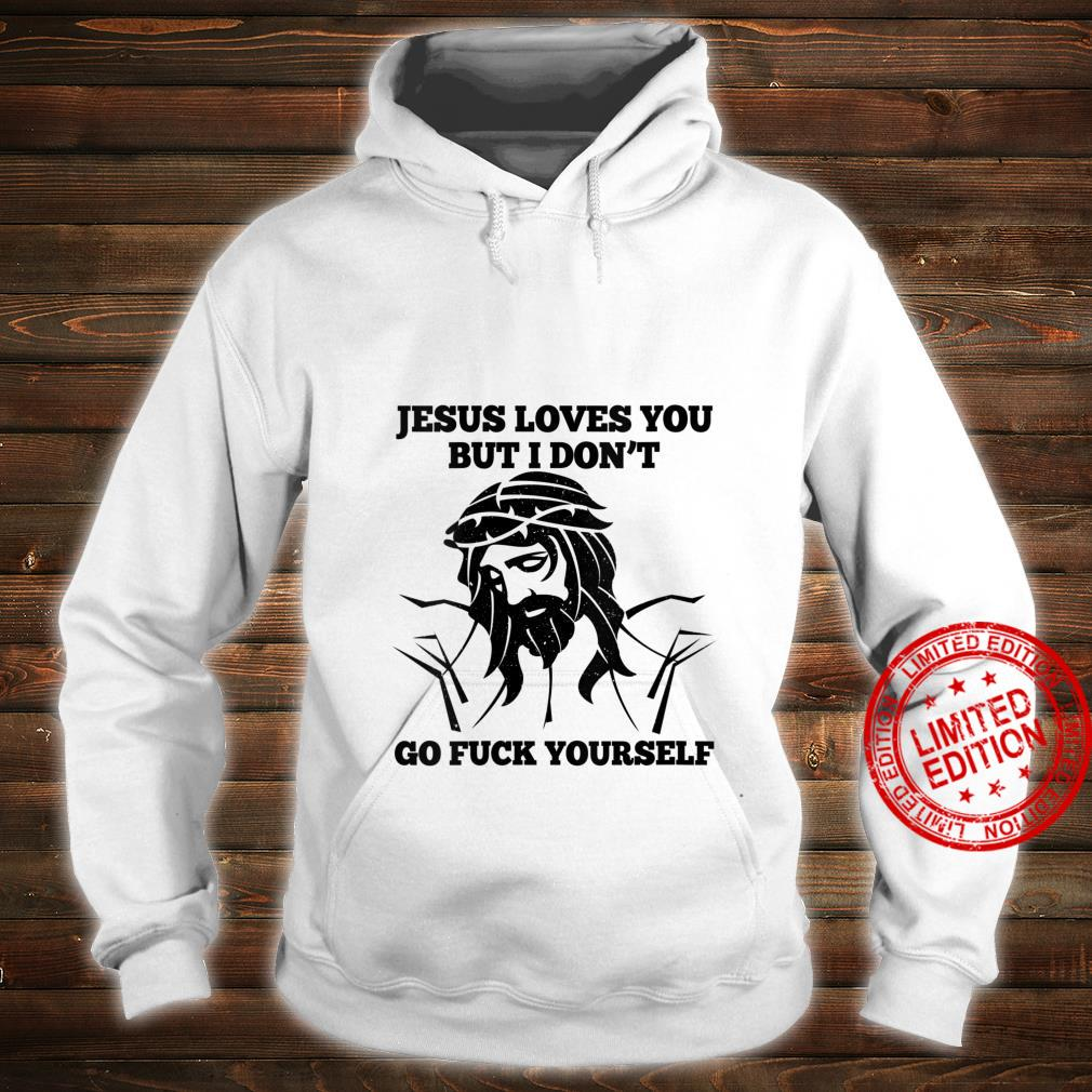 Womens Jesus Love You But I Don't Go Fuck Yourself Christmas Shirt hoodie