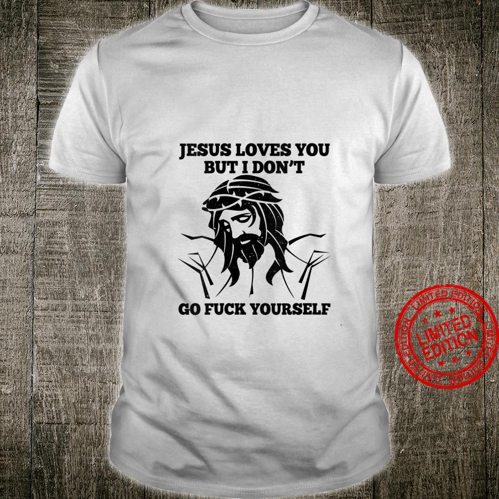 Womens Jesus Love You But I Don't Go Fuck Yourself Christmas Shirt