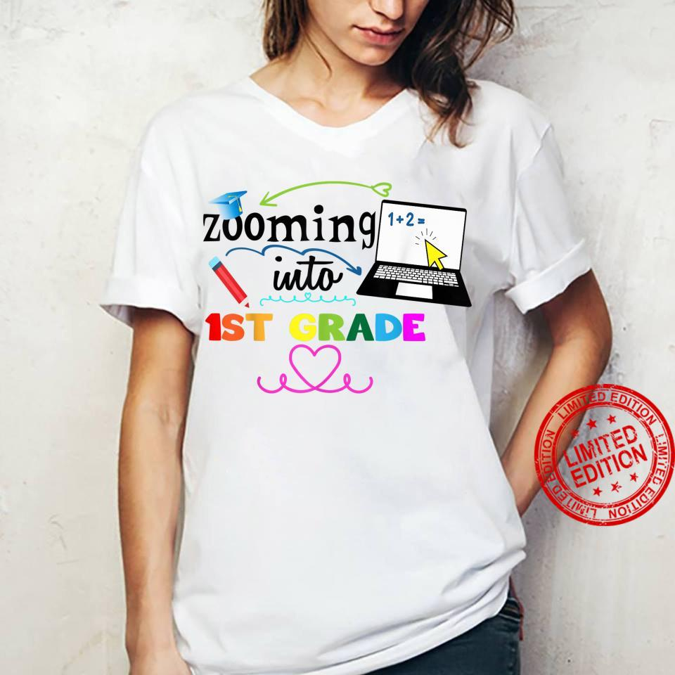 Zooming Into 1st Grade Virtual Back to School First Grade Shirt ladies tee