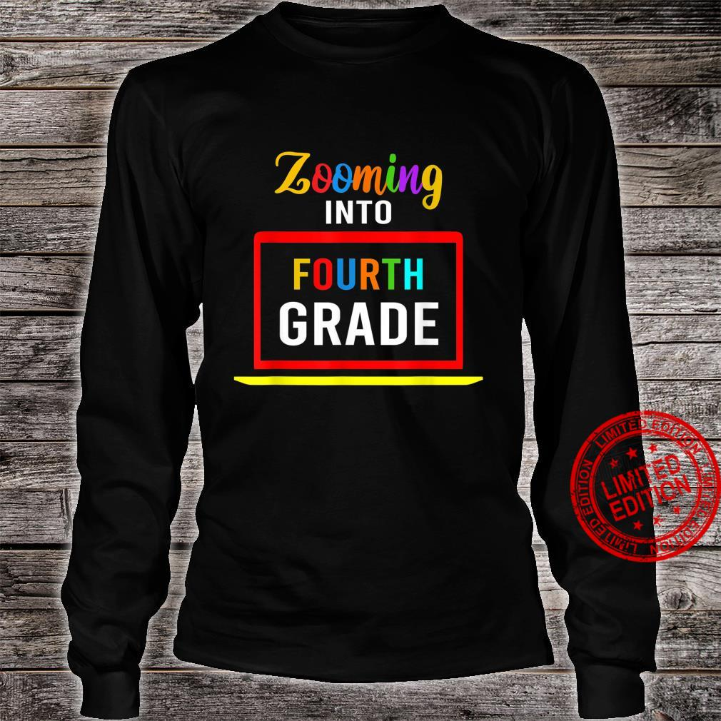 Zooming Into 4th Fourth Grade Virtual Back to School 2020 Shirt long sleeved