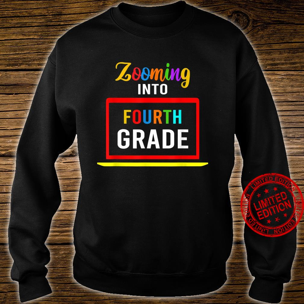 Zooming Into 4th Fourth Grade Virtual Back to School 2020 Shirt sweater
