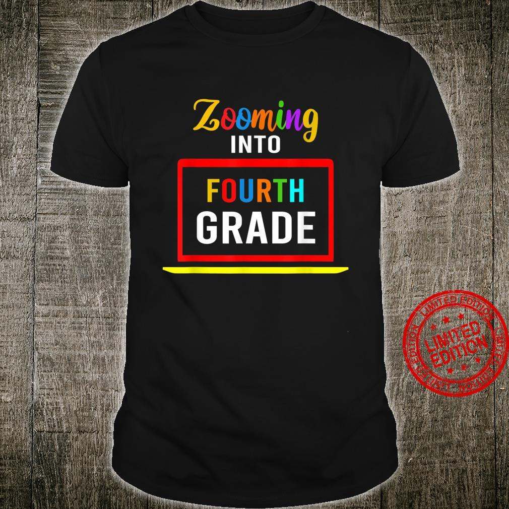 Zooming Into 4th Fourth Grade Virtual Back to School 2020 Shirt